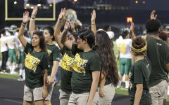 Stand Leaders fire up the crowd at the game versus Conroe