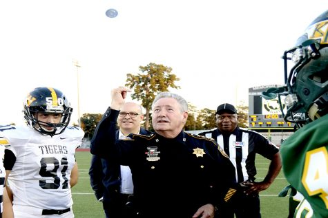 The Eagles VS Tigers Coin Toss with Harris County Sheriff Ron Hickman