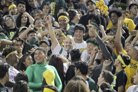 Student Section Bleeds Green and Gold