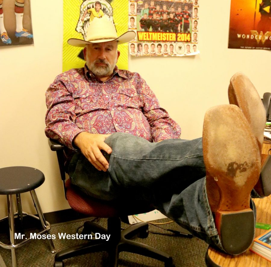 Boots were the fashion of the day Sept. 14 for Western Day.
