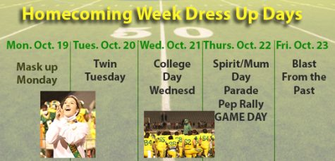 Homecoming Week Dress Up Days Click here to see